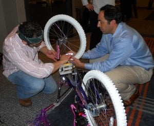 Charity team building bike assembly