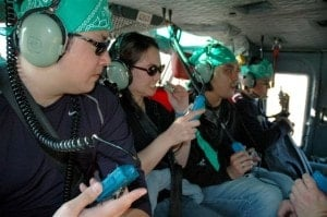 Amazing race team building in helicopter